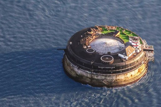 This 19th Century Sea Fort Has Been Converted Into a Modern Luxury Hotel