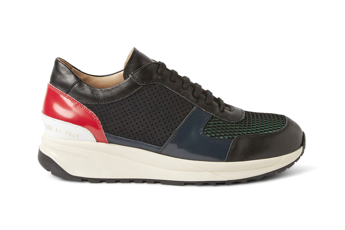 Tim Coppens x Common Projects Leather and Mesh Sneakers