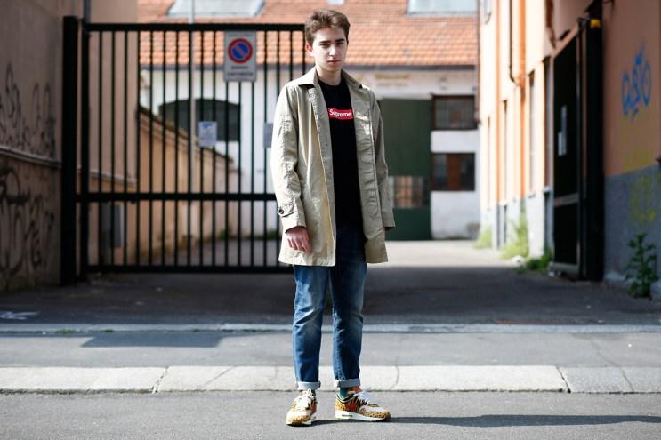 Streetsnaps: Francesco Moggi in UNDERCOVER x Supreme