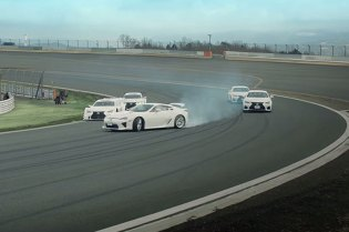 Watch the Lexus LFA and RC F Drift Around the Fuji Speedway