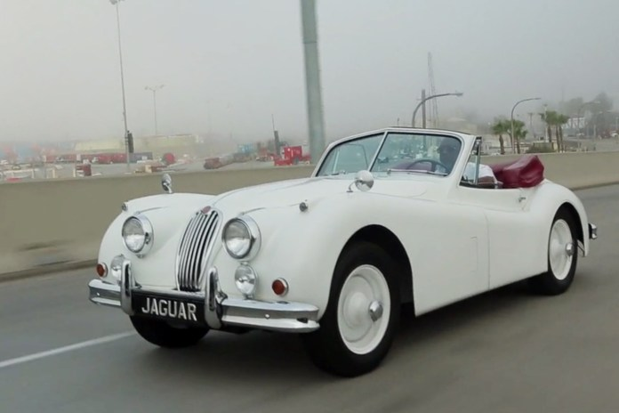 Winston Dabbs Takes His 1955 Jaguar XK140 for a Spin
