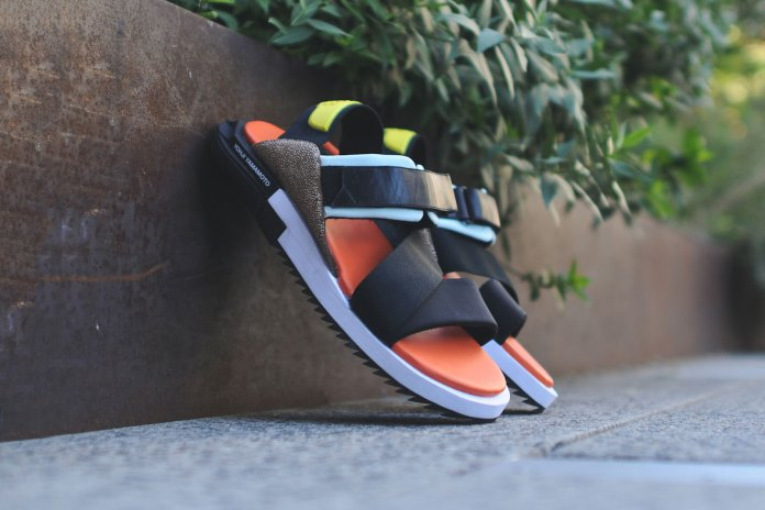 Y-3 2015 Spring/Summer Kaohe Sandal Black/Orange