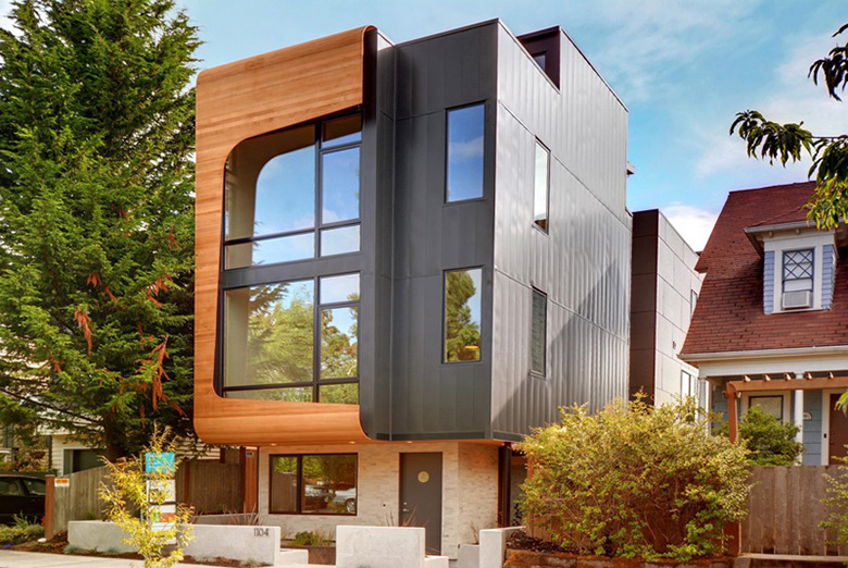 18th Avenue City Homes by Malboeuf Bowie Architecture