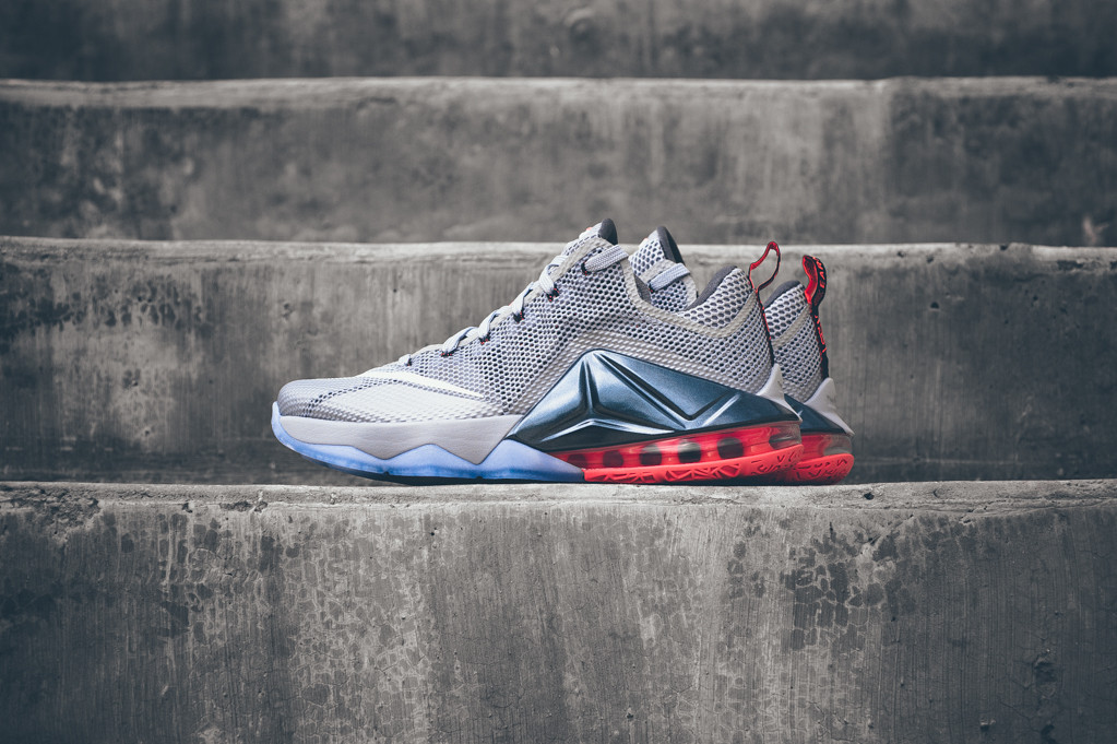 A Closer Look at the Nike LeBron 12 Low Wolf Grey/Hot Lava