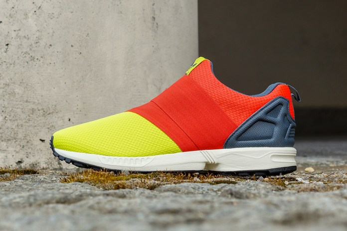 adidas Originals ZX Flux Slip On Semi Solar Yellow/Hi-Res Red/Bold Onyx