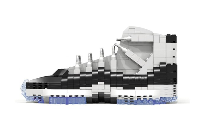 """Air Jordan 11 Retro """"Concord"""" Replica Made of LEGO®"""