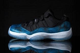 "Air Jordan 11 Retro Low ""Blue Snake"" Custom by Tony Chen"