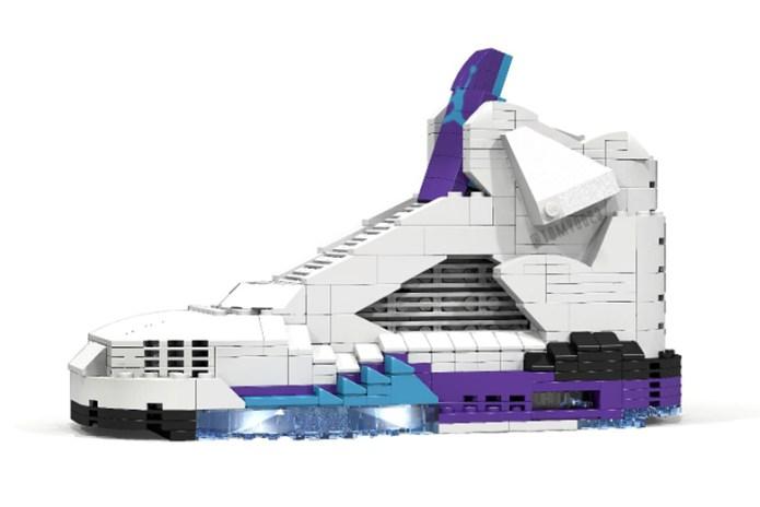 """Air Jordan V """"Grape"""" Replica Made out of LEGO®"""