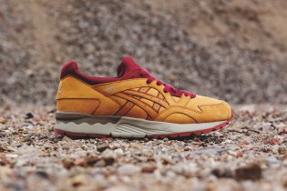 ASICS GEL-Lyte V Tan/Deep Red