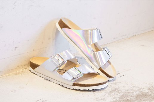 "Birkenstock for BEAUTY & YOUTH Arizona ""Mirror"" Sandals"