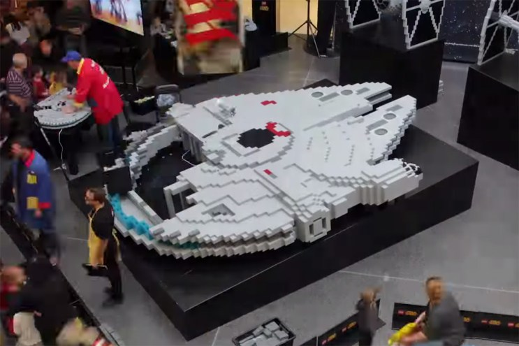 Check out the biggest lego millennium falcon ever made hypebeast - Lego brick caravan a record built piece by piece ...
