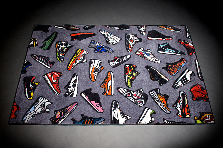 """Check out This """"Sneaker Grail"""" Rug Full of Your Favorite Sneakers"""