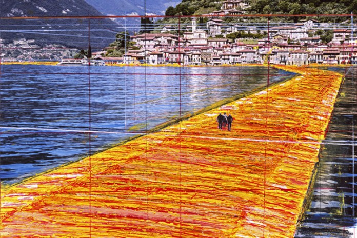 Christo Unveils Plans for New Floating Golden Fabric Piers Installation in Italy