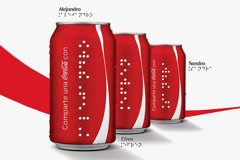 Coca-Cola Introduces Braille-Covered Cans for the Blind