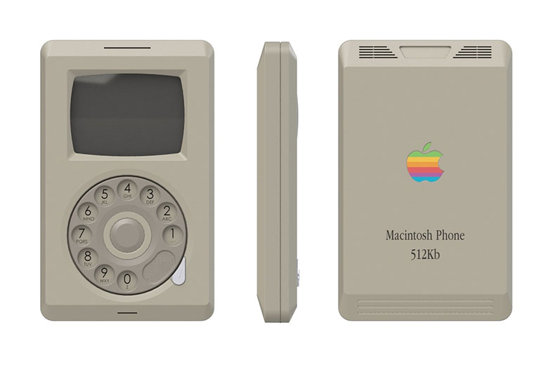 """Designer Conceptualizes the """"Apple Macintosh Phone,"""" May Be What the iPhone Would've Looked Like in 1984"""