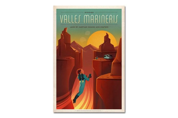 Elon Musk's SpaceX Unveils Vintage Mars Posters