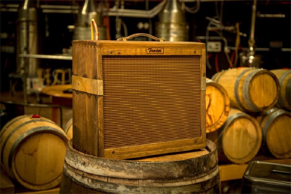 Fender 80 Proof Blues Junior Amplifier Made out of Whiskey Barrels