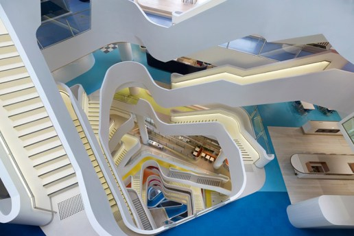 HASSELL Designs a Fluid and Colorful Atrium for Melbourne's Medibank Building