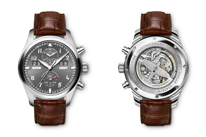 IWC Spitfire Perpetual Calendar Digital Date-Month Stainless Steel Chronograph