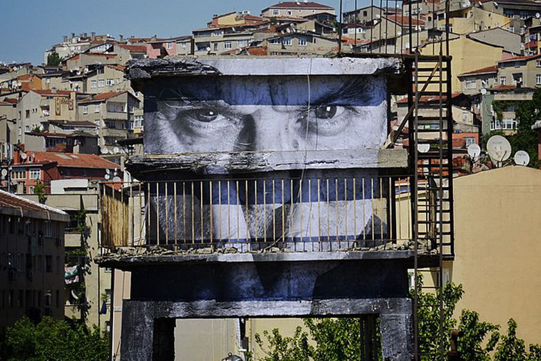 """JR's """"Wrinkles Of The City"""" Project Arrives in Istanbul"""