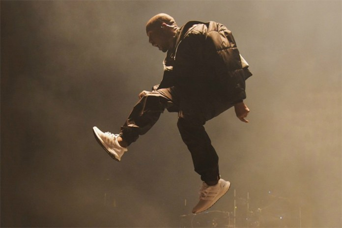 "Kanye West Rocks the New adidas Ultra Boost ""All-White"" During BBMA Performance and Powerhouse"