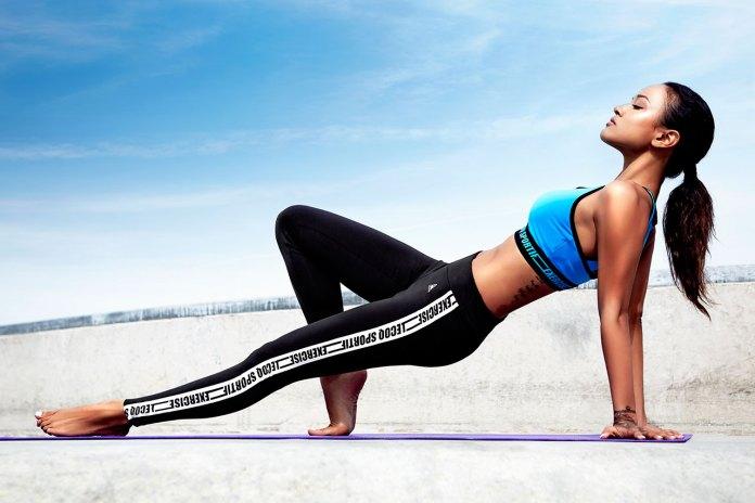 le coq sportif 2015 Spring/Summer Women's Training Lookbook featuring Karrueche Tran