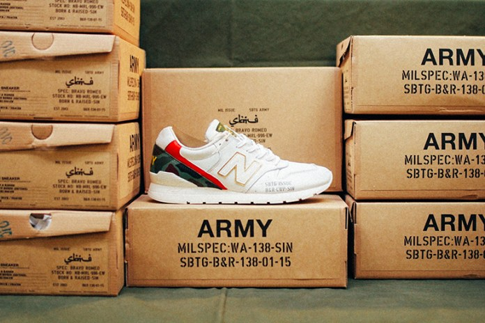 "SBTG x Born & Raised x New Balance MRL996EW ""Bravo Romeo"""