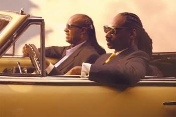 "Snoop Dogg featuring Stevie Wonder & Pharrell Williams ""California Roll"" Music Video"