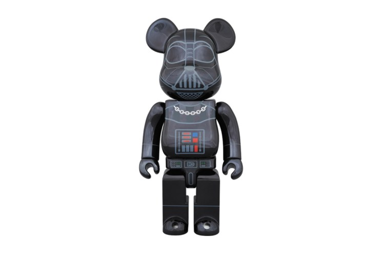 "'Star Wars' x Medicom Toy 400% & 100% Darth Vader ""Chrome"" Bearbricks"