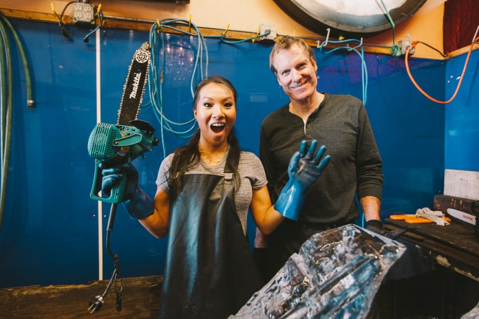 The Hundreds Presents 'Hobbies With Asa Akira' - Ice Carving