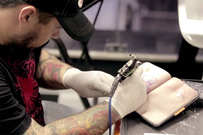 The Skin Book Allows Aspiring Tattoo Artists to Practice on a Notebook of Artificial Skin