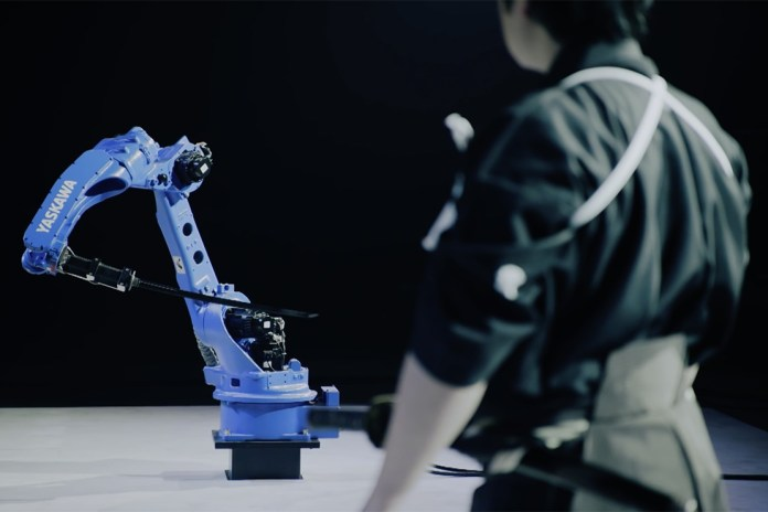 A Robot and Sword Master Square Off in the Yaskawa Bushido Project