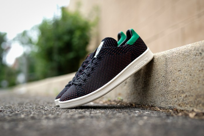 adidas Originals Stan Smith Primeknit Black/Green/Orange