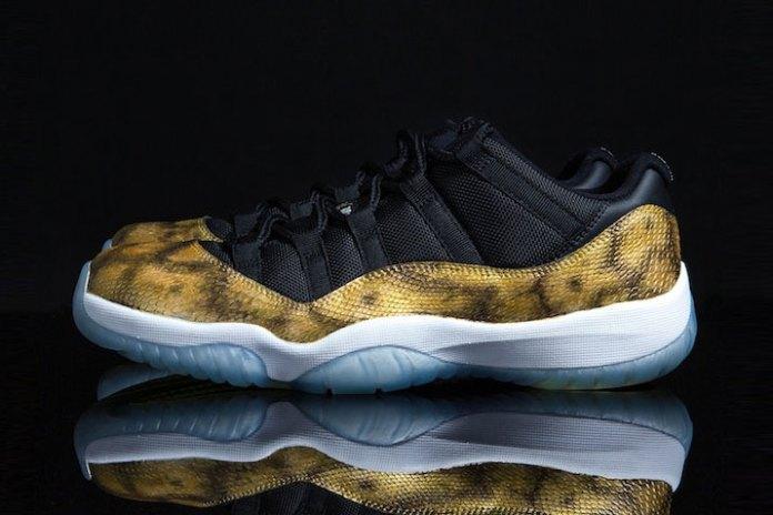 "Air Jordan 11 Low ""Golden Snake"" Custom by Tony Chen"