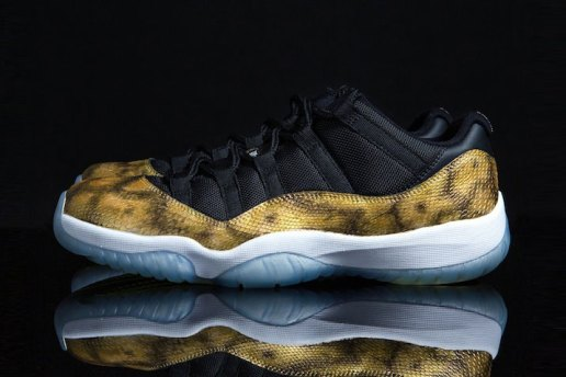 "Air Jordan 11 Low ""Golden Snake"" Custom by Tony Chen"