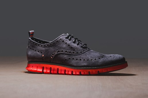 "Cole Haan ZeroGrand Wing Oxford ""Grey Suede"""