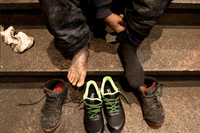 It's From The Sole: Giving Away 7,000 Sneakers and Counting to the Homeless
