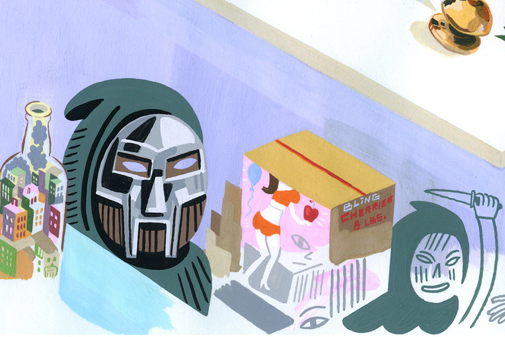 "Jason Jägel Paints MF DOOM for ""The Doomsday Show"" Exhibition"