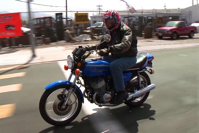 Jay Leno Compares the 1972 Kawasaki H2 Mach IV and Supersport Ninja