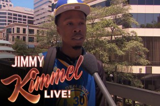 """Jimmy Kimmel Takes Aim at Golden State Warriors Fans in Latest """"Lie Witness News"""""""
