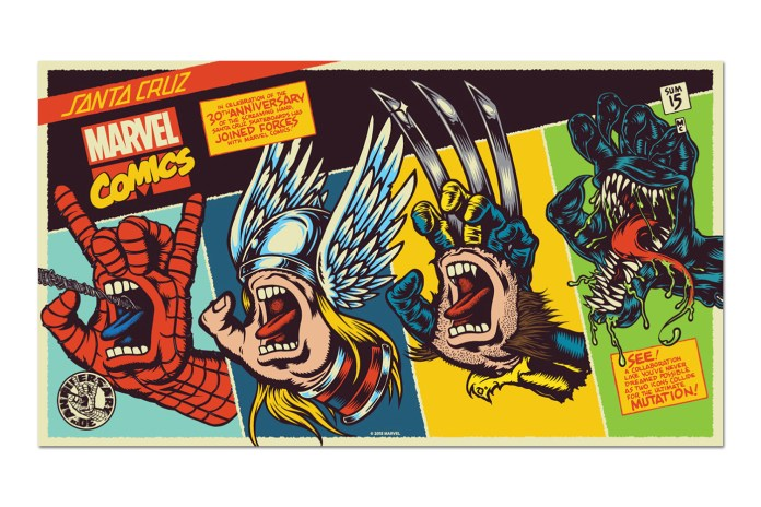 "Marvel x Santa Cruz ""Screaming Hand"" Collection"