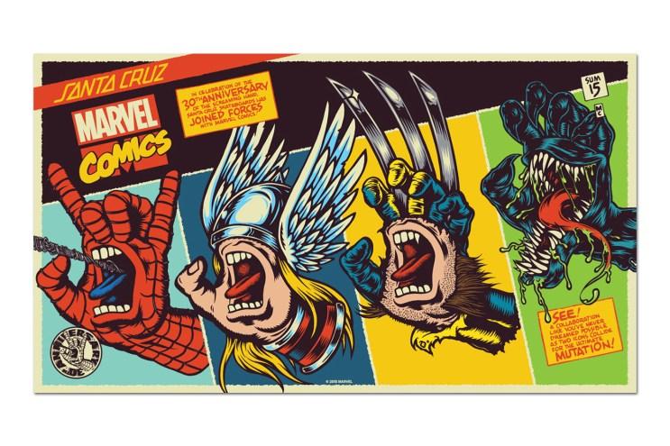 "Marvel x Santa Cruz ""Screaming Hand"" Collection"