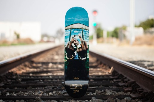 "Mike Miller x Primitive Skateboarding 2Pac ""Against the World"" 8.1"" Skate Deck"