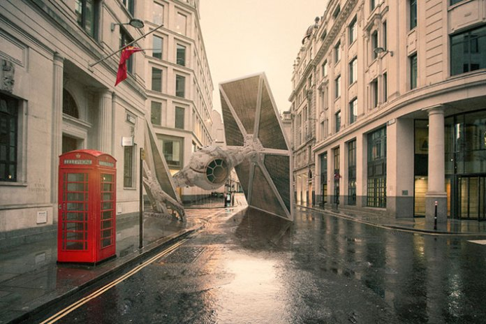 Nicolas Amiard Envisions 'Star Wars' Battleships Crash Landing in Various Cities