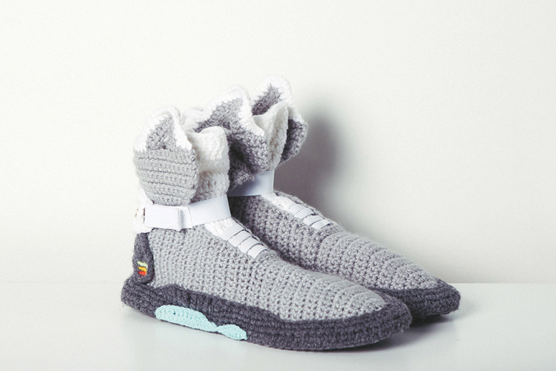 Crochet Yeezy : Nike Air Mag and Air Yeezy 2 Slippers for Everyday Lounge Wear ...
