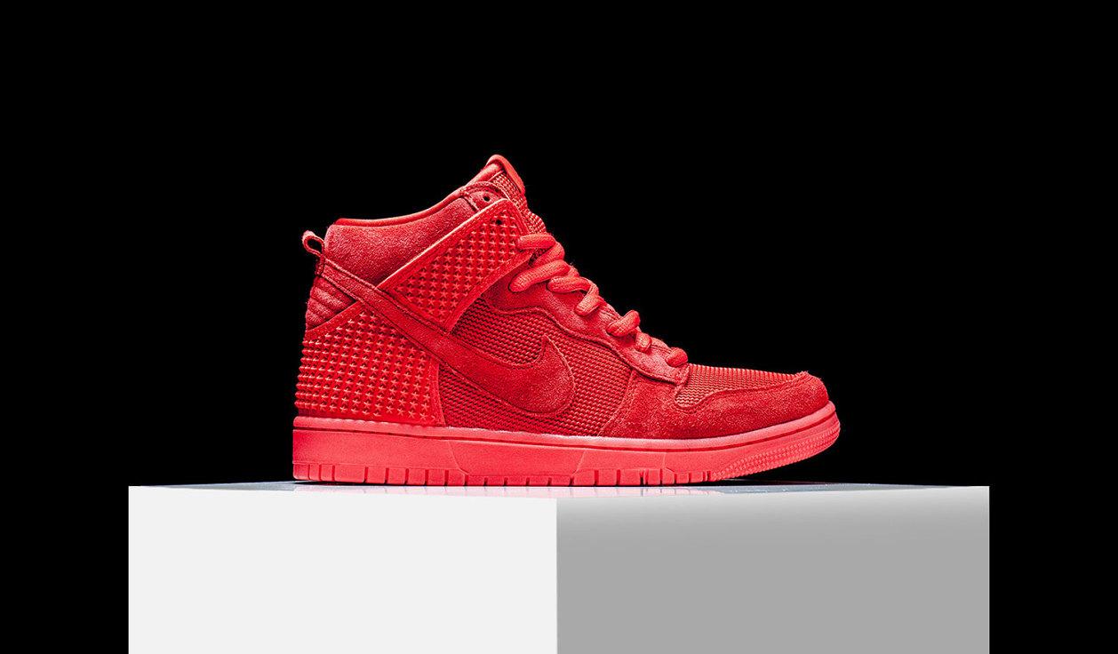 """Nike Dunk High CMFT PRM """"Red October"""""""