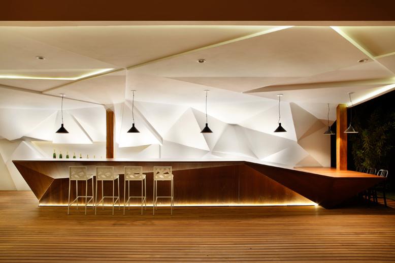 Nosotros Bar's Sculptural Walls by Studio Otto Felix
