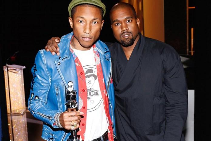 Pharrell Williams' Fashion Icon Award Presented by Kanye West at 2015 CFDA Awards