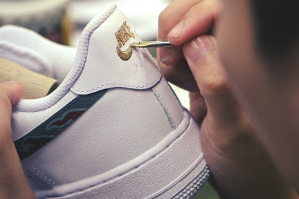 "Process: SBTG for HYPEBEAST Nike Air Force 1 & Huarache ""AWOL Camo"""
