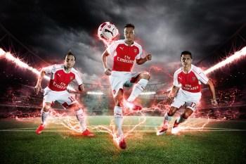 PUMA Launches Arsenal 2015/16 Home Kits